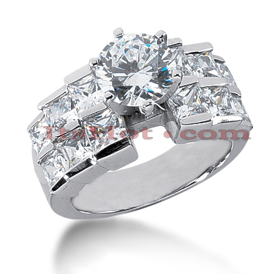 14K Gold Designer Diamond Engagement Ring 3.98ct