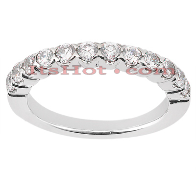 Ultra Thin 14K Gold Designer Diamond Engagement Ring Band 0.13ct Main Image