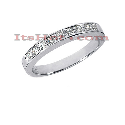 Thin 14K Gold Designer Diamond Engagement Ring Band 0.23ct Main Image