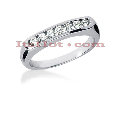 14K Gold Channel Set Diamond Engagement Ring Band 0.24ct Main Image