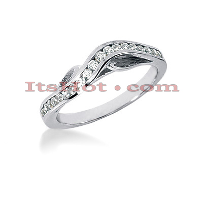 Thin 14K Gold Designer Diamond Engagement Ring Band 0.28ct Main Image