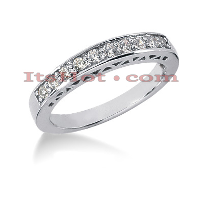 14K Gold Round Diamond Engagement Ring Band 0.30ct Main Image