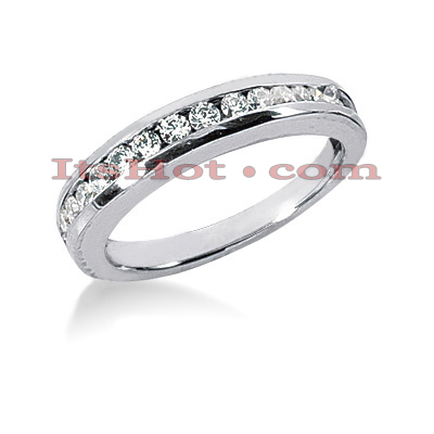 Thin 14K Gold Designer Diamond Engagement Ring Band 0.32ct Main Image