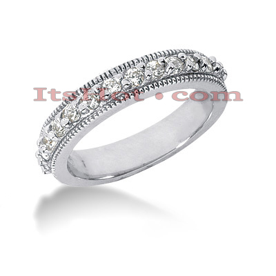 Thin 14K Gold Designer Diamond Engagement Ring Band 0.33ct