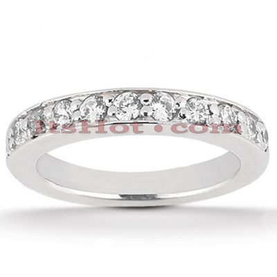 14K Gold Prong Set Diamond Engagement Ring Band 0.39ct Main Image