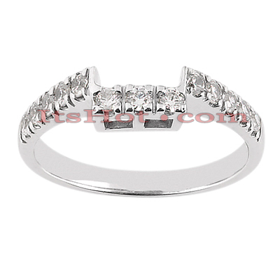 14K Gold Designer Prong Set Diamond Engagement Ring Band 0.39ct Main Image