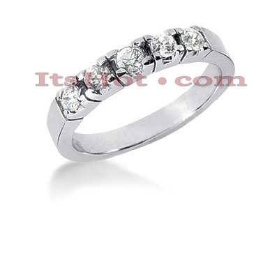 Thin 14K Gold Designer Diamond Engagement Ring Band 0.45ct Main Image