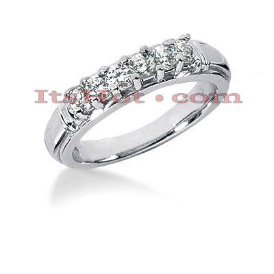 14K Gold Designer Diamond Engagement Ring Band 0.48ct Main Image
