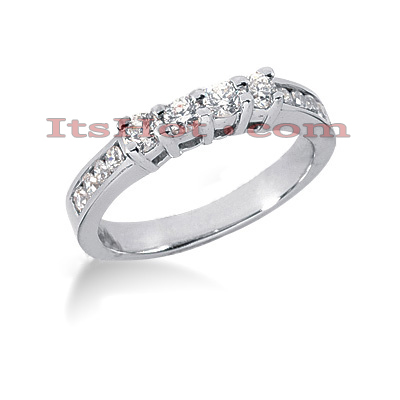 14K Gold Designer Diamond Engagement Ring Band 0.52ct Main Image