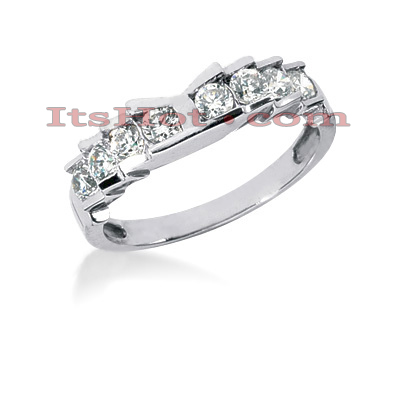 Thin 14K Gold Designer Diamond Engagement Ring Band 0.56ct Main Image