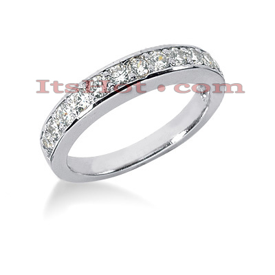 14K Gold Prong Set Diamond Engagement Ring Band 0.60ct Main Image