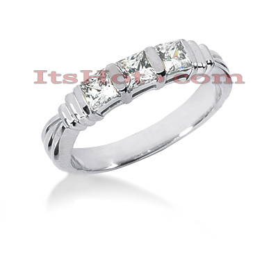 Thin 14K Gold Designer Diamond Engagement Ring Band 0.60ct Main Image