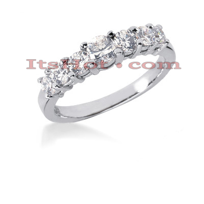 14K Gold 7 Stone Diamond Engagement Ring Band 0.64ct Main Image