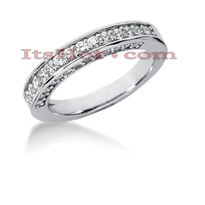 14K Gold Prong Set Diamond Engagement Ring Band 0.64ct Main Image
