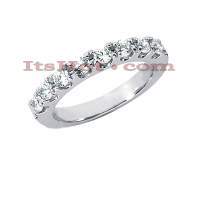 14K Gold Round Diamond Engagement Ring Band 0.64ct Main Image