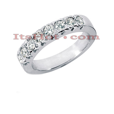 Thin 14K Gold Designer Diamond Engagement Ring Band 0.64ct Main Image