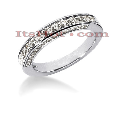 Thin 14K Gold Designer Diamond Engagement Ring Band 0.72ct Main Image