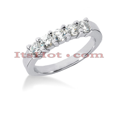 14K Gold Round Diamond Engagement Ring Band 0.75ct Main Image