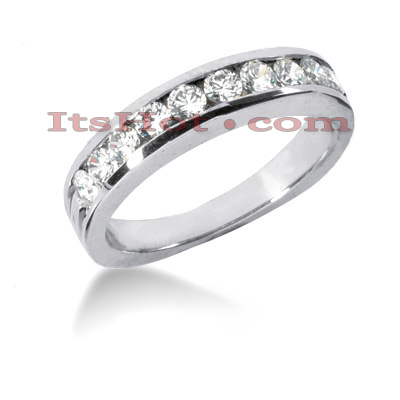 14K Gold Channel Diamond Engagement Ring Band 0.80ct Main Image