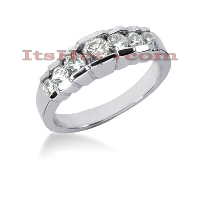 Thin 14K Gold Designer Diamond Engagement Ring Band 0.91ct Main Image