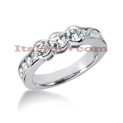 Thin 14K Gold Designer Diamond Engagement Ring Band 1.10ct Main Image