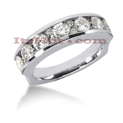 14K Gold Designer Diamond Engagement Ring Band 1.58ct Main Image