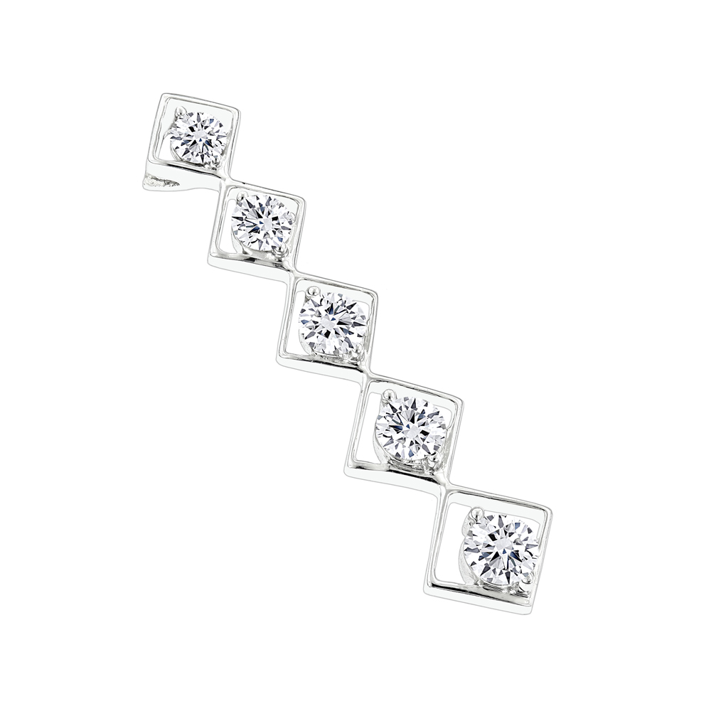 14K Gold Designer Journey Diamond Pendant 1.05ct