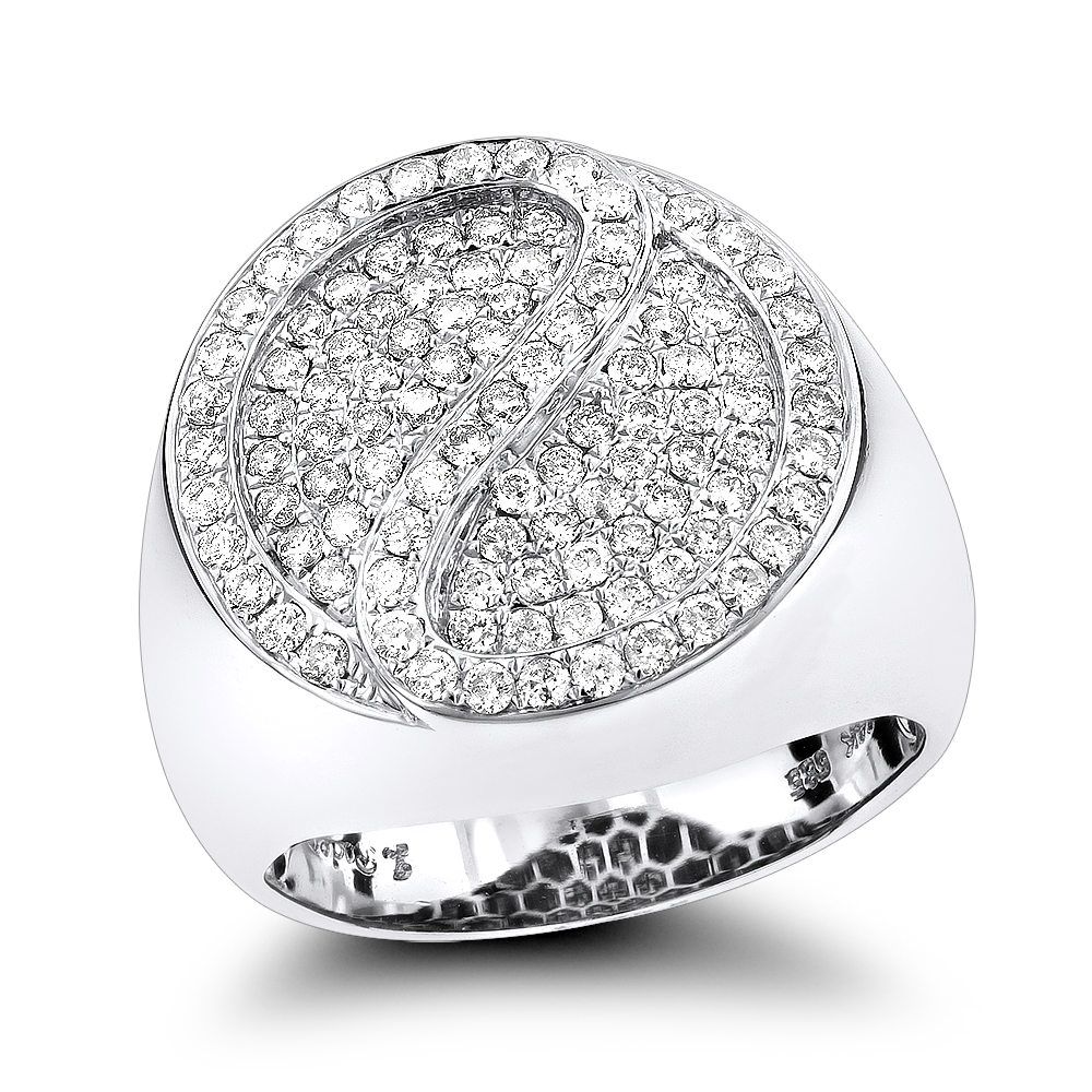14K Gold Diamond Circle Ring 1.41ct White Image