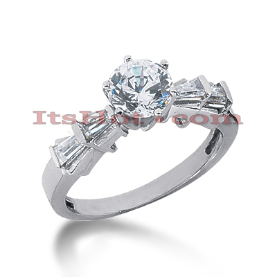 14K Gold Diamond Designer Handmade Engagement Ring 0.74ct Main Image
