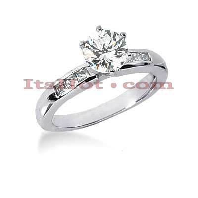 14K Gold Diamond Designer Engagement Ring 0.74ct Main Image