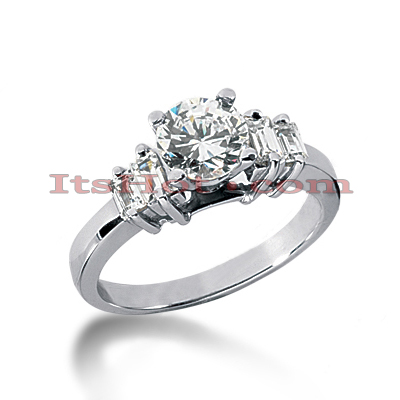 14K Gold Diamond Designer Engagement Ring 0.86ct Main Image