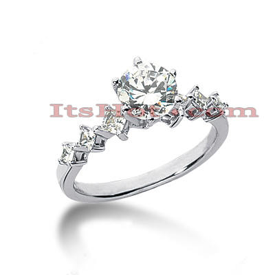 14K Gold Diamond Designer Engagement Ring 0.88ct Main Image