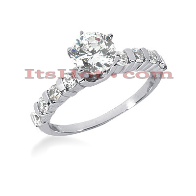 14K Gold Diamond Designer Engagement Ring 0.90ct 2.05mm Main Image