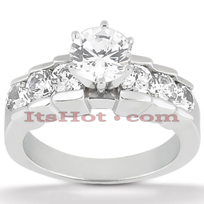 14K Gold Diamond Designer Engagement Ring 0.98ct Main Image