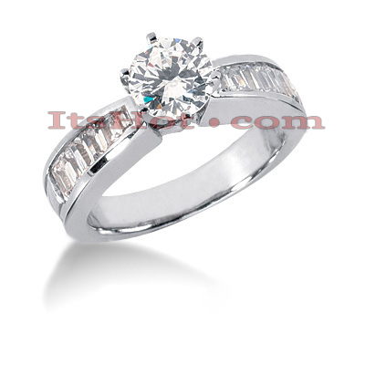 14K Gold Diamond Designer Engagement Ring 1.22ct Main Image