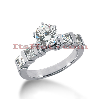 14K Gold Diamond Designer Engagement Ring 1.30ct