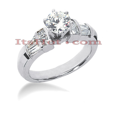 14K Gold Diamond Designer Engagement Ring 1.34ct Main Image