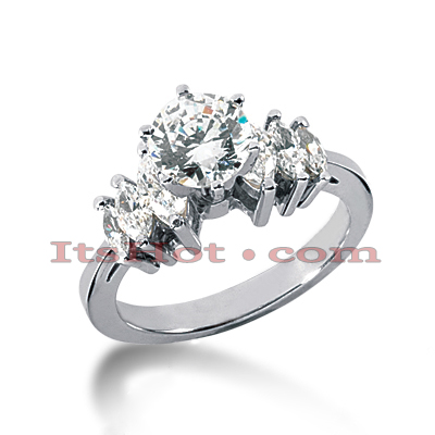14K Gold Diamond Designer Engagement Ring 1.36ct Main Image