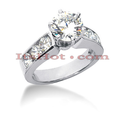 14K Gold Round Diamond Designer Engagement Ring 1.52ct Main Image