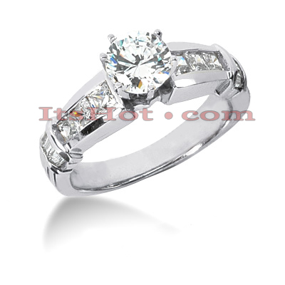 14K Gold Diamond Designer Engagement Ring 1.56ct Main Image