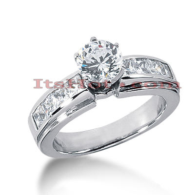 14K Gold Handmade Diamond Designer Engagement Ring 1.62ct Main Image