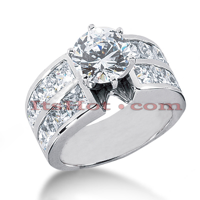 14K Gold Diamond Designer Engagement Ring 3.86ct Main Image