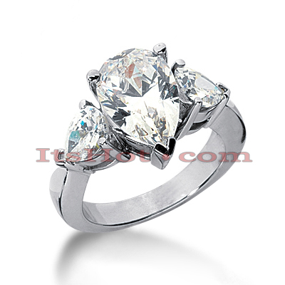 14K Gold Diamond Designer Engagement Ring 4.50ct Main Image