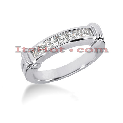 Thin 14K Gold Diamond Designer Engagement Ring Band 0.35ct Main Image