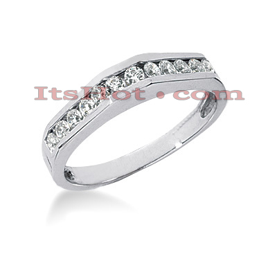 14K Gold Handmade Diamond Designer Engagement Ring Band 0.36ct