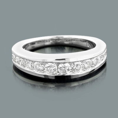 14K Gold Diamond Handmade Designer Engagement Ring Band 0.65ct Main Image