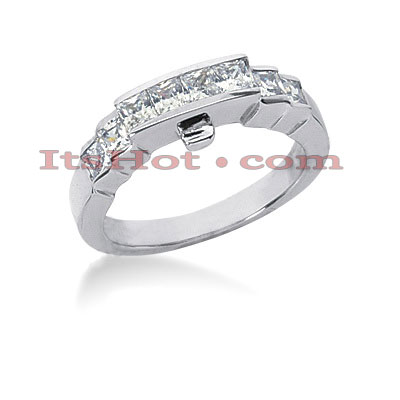 Thin 14K Gold Diamond Designer Engagement Ring Band 0.68ct Main Image