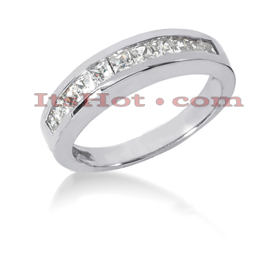 Thin 14K Gold Diamond Designer Engagement Ring Band 0.77ct Main Image