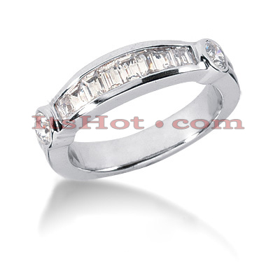 14K Gold Diamond Designer Engagement Ring Band 0.78ct