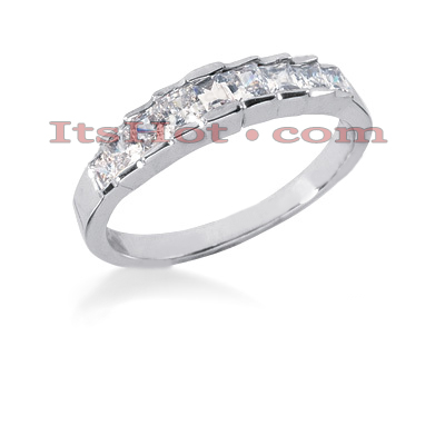 Thin 14K Gold Diamond Designer Engagement Ring Band 0.83ct Main Image